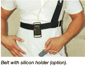 Belt with silicon holder (option).